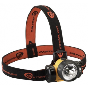 Streamlight 3AA HAZ-LO UL Classified Class I Division 1 LED Headlamp, Yellow w/ Black/Red Strap