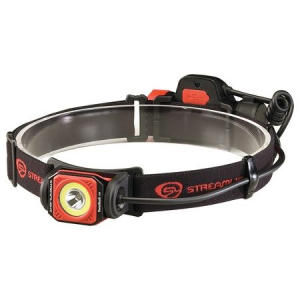 Streamlight Twin-Task USB Rechargeable Multi-Functional Headlamp, 375/250 Lumens w/ USB Cord and Elastic Head Strap, Black/Red, Clam