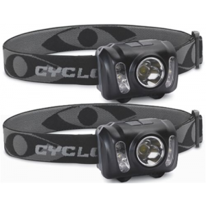 Cyclops 210 Lumen Headlamp w/ adjustable headband 2 Pk
