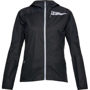 SHED, Under Armour Scrambler Hybrid Rain Jacket - Womens, Black/Black, Small