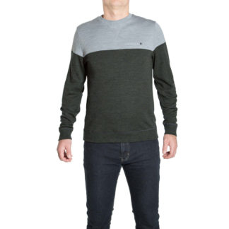 We Norwegians Base Two Colorblock Crew Mens Sweater