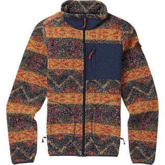 Burton Women's Premium Bombay Full-Zip Jacket - Medium - Mood Indigo Jacquard Stripe