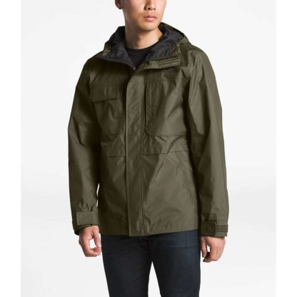 The North Face Men's Zoomie Rain Jacket - Small - New Taupe Green