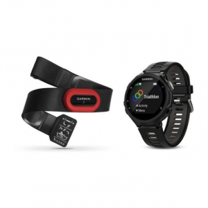 Garmin Forerunner 735XT, GPS, NA/PAC, Run Bundle, Black/Gray