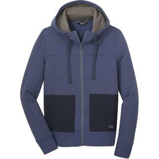 Outdoor Research Women's Cam Full Zip Hoody - Medium - Steel Blue