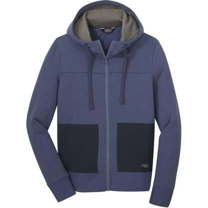 Outdoor Research Women's Cam Full Zip Hoody - Medium - Steel Blue