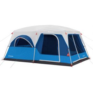 Columbia 10 Person Mammoth Creek Cabin Tent, Blue/Dark Blue/Graphite/Gray/Orange