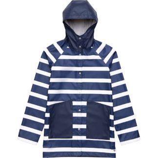 Herschel Supply Co Women's Classic Rain Jacket - Medium - Border Stripe/Peacoat