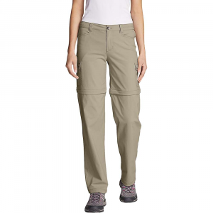 Eddie Bauer Travex Women's Horizon Cargo Convertible Pant - 18 - Light Khaki