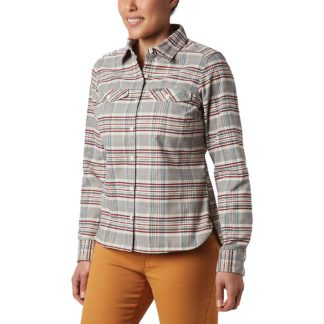 Columbia Women's Silver Ridge LS Flannel Shirt - 1X - Chalk Plaid