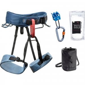 Stone Blue Black Diamond Women's Momentum Rock Climbing Harness Package - L