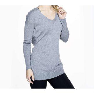 Vimmia Women's Shavasana Reversible Sweater - Large - Light Heather Grey
