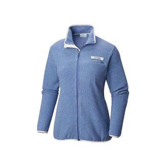 Columbia Women's Harborside Fleece Full Zip Jacket - Medium - Bluebell / Stone