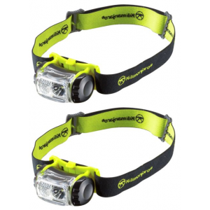 Kilimanjaro Gear LED Headlamp 180 Lumens Spot Flood, Water Resistant, 2 pack
