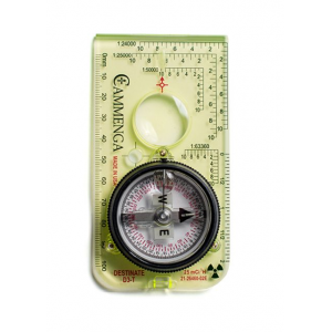 Cammenga Destinate Tritium Protractor Compass - Southern Hemisphere, Box, Green, NSN 6605-01-625-2819