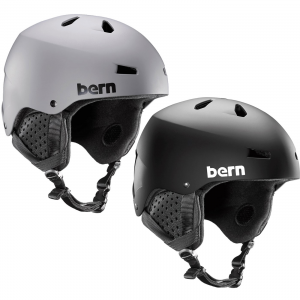 Matte Black Bern Men's Macon ThinShell Snow Helmet - L