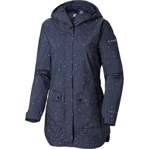 Columbia Women's Here And There Trench Jacket - 2X - Nocturnal Rain Dots Print