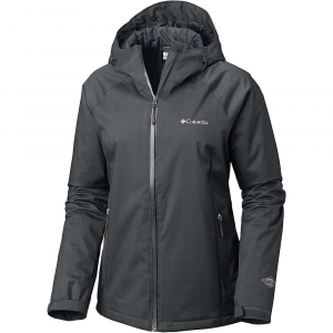 Columbia Women's Top Pine Insulated Rain Jacket - Small - Shark Melange / Black