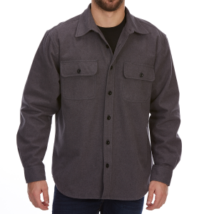 Dunlop Men's Solid Chamois Long-Sleeve Shirt