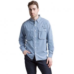 Exofficio Men's Air Strip Micro Plaid Long-Sleeve Shirt - Size S