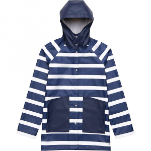 Herschel Supply Co Women's Classic Rain Jacket - Medium - Border Stripe/Peacoat
