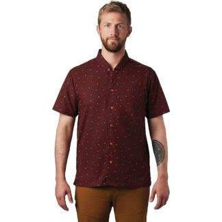 Mountain Hardwear Men's Hand/Hold Printed SS Shirt - Small - Dark Umber Cam Print