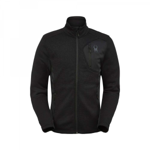 Spyder Men's Bandit Full Zip Jacket - Small - Black Black