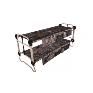 Disc-O-Bed Cam-O-Bunk with 2 Side Organizers, Mossy Oak, Large