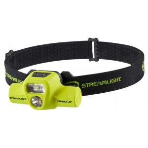 Streamlight USB HAZ-LO Intrinsically Safe Headlamp, 120V AC, Box, Yellow