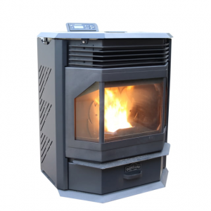 Cleveland Iron Works Bay Front Pellet Stove - 65 lb Hopper, Black