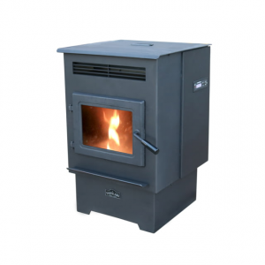 Cleveland Iron Works Small Pellet Stove - 18 lb Hopper, 20x18in, Black