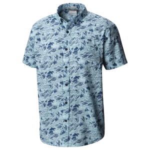 Columbia Men's Rapid Rivers(TM) Printed Short-Sleeve Shirt - Size S