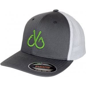Filthy Anglers Flexfit Trucker Hat - Mens, White/Grey