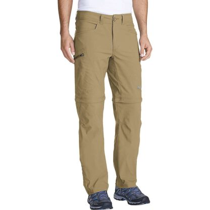 Eddie Bauer First Ascent Men's Guide Convertible Pant - 38 / 30 - Saddle