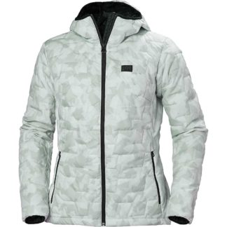 Helly Hansen Women's Lifaloft Hooded Insulator Jacket - Large - Grey Fog Camo