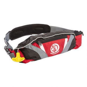 Airhead Inflatable Belt Pack PFD, 24G Sl Deluxe 3F, Red