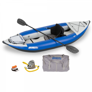 Blue Sea Eagle Explorer 300X Inflatable Kayak Pro Package - 9' 10""