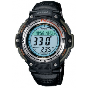 Casio Outdoor Twin Sensor-Compass/Therm-200m Water Resistant, Black/Green