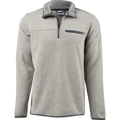 Columbia Men's Terpin Point III Half Zip Sweater - 2X - Stone