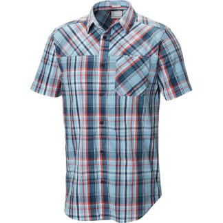 Columbia Men's Thompson Hill Yarn Day SS Shirt - Medium - Blue Sky Plaid