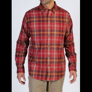 ExOfficio Kegon Flannel Long Sleeve Shirt - Men's -Tango-Small