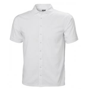 Helly Hansen Men's Club Qd Short Sleeve Shirt, White, Extra Large