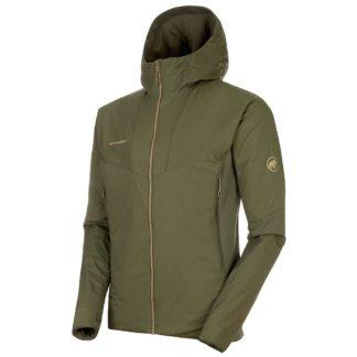 Mammut Men's Rime Light Insulation Flex Hooded Jacket - XL - Iguana