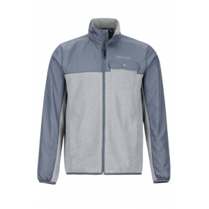 Marmot Tech Sweater - Men's, Grey Storm Heather/Steel Onyx, Small