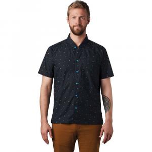 Mountain Hardwear Men's Hand/Hold Printed SS Shirt - Large - Dark Storm Cam Print