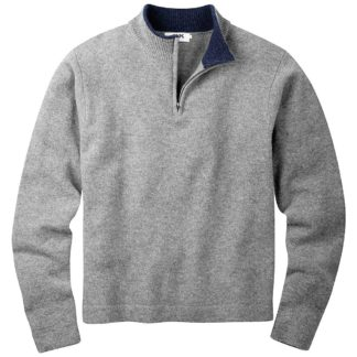 Mountain Khakis Men's Lodge 1/4 Zip Sweater - Small - Heather Grey
