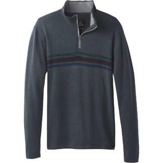 Prana Men's Holberg 1/4 Zip Sweater - Small - Coal