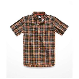 The North Face Men's Monanock SS Shirt - Small - Weathered Black Brutus Plaid