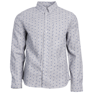 United By Blue Men's Bison Print Button-Down Long-Sleeve Shirt - Size S