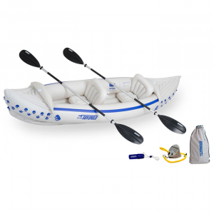 White Sea Eagle Sport SE330 Inflatable Kayak Deluxe Tandem Package - 11 Feet 2 Inches
